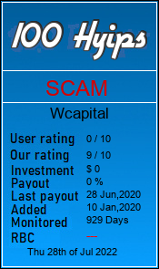 wcapital.biz monitoring by 100hyips.com
