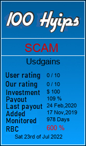 usdgains.biz monitoring by 100hyips.com