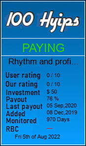 rhythm-and-profit.com monitoring by 100hyips.com