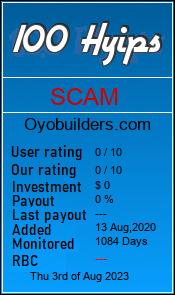oyobuilders.com monitoring by 100hyips.com